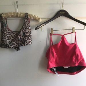 Pair Large Free People Movement sport bras